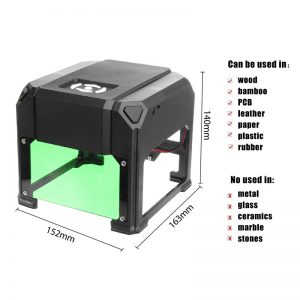 Laser Engraver Printer Machine for PVC Cards – 3000mW – USB