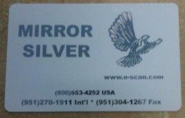 Zebra Silver Mirror Image Ribbon