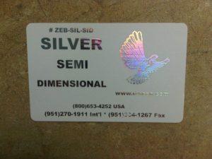 Zebra Silver Semi-Dimensional Ribbon