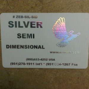 Zebra Silver Semi-Dimensional Ribbon, 1000 prints