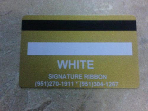 Zebra White Signature Panel Ribbon