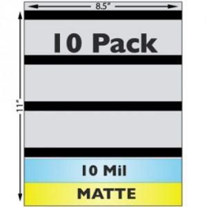 Matte Sheet Laminate, 10 mil, 3-Track HiCo Magstripe