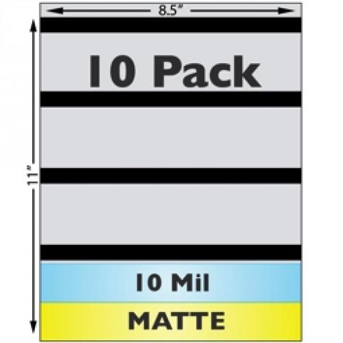 Matte Sheet Laminate, 10mil, 3-Track Mag