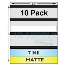 Matte Sheet Laminate, 7mil, 3-Track Mag