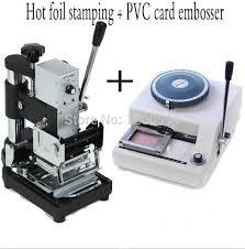 Manual PVC Card Embosser & Tipper Combo